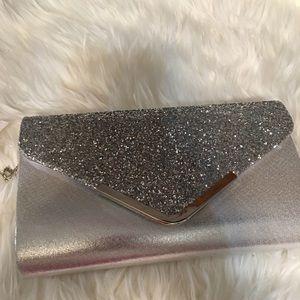 Glittered envelope clutch purse evening bag